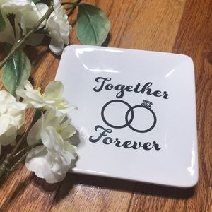 Together Forever Mr. And Mrs. Ring Trinket Tray